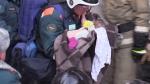 Ինչպես են Մագնիտոգորսկում ողջ մնացած 11 ամսական երեխայի հանում տան փլատակների տակից