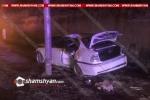Խոշոր ավտովթար Երևանում. 28-ամյա կին վարորդը բախվել է էլեկտրասյանը
