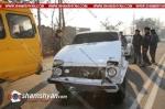 Երևանում բախվել են ոստիկանության զորքերի ծառայողի «Нива»-ն ու մարդատար «Газель»-ը. կա վիրավո
