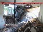Երևանում բախվել են բեռնատար ЗИЛ-ն ու Ford Transit-ը, իսկ հետո մխրճվել են բնակելի տան մեջ