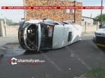 Դավիթաշենում բախվել են թիվ 57 երթուղին սպասարկող մարդատար Газель-ն ու «Աթենք» ՍՊԸ-ի Ford Transit-ը. Газель-ը կողաշրջվել է.