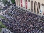 Թբիլիսիում ծեծկռտուք է տեղի ունեցել ցույցի ժամանակ (տեսանյութ)
