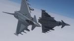 В Германии два истребителя столкнулись в воздухе (видео)