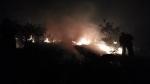 В результате выстрелов противника на границе с Нахиджеваном начался пожар (видео)